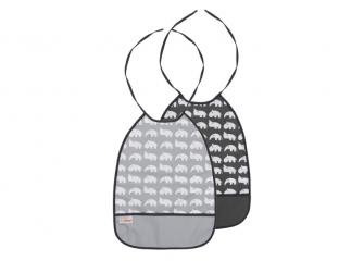 Set 2 ks bryndáčků - odstíny šedé
