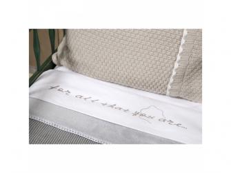 Pletená deka Vizela silver grey/white 9