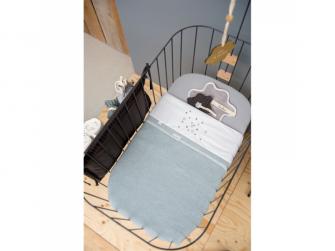 Pletená deka Vizela letní - soft blue, 75x100cm 2