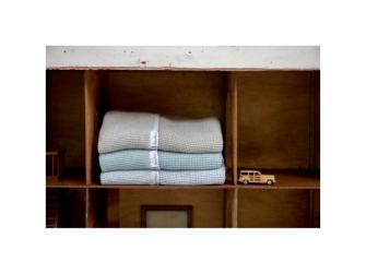 Pletená deka Vizela letní - soft blue, 75x100cm 3