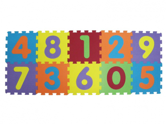 Puzzle pěnové 143x48 cm čísla