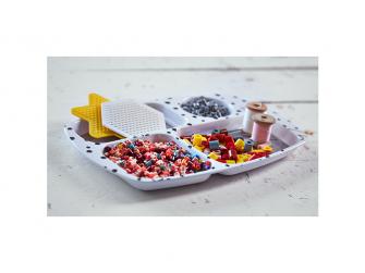 Dělený talíř Happy Dots - růžový 2