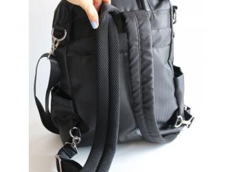 Přebalovací batoh a taška na kočárek 2v1 FAVE, black 2