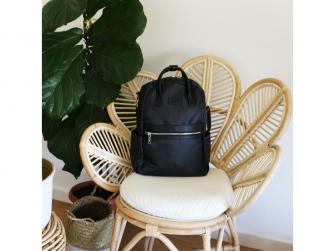 Přebalovací batoh a taška na kočárek 2v1 FAVE, black 4