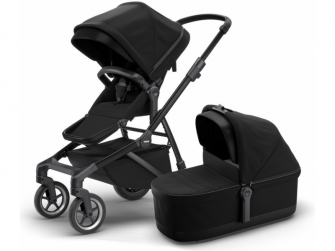Sleek + Bassinet Midnight Black on Black