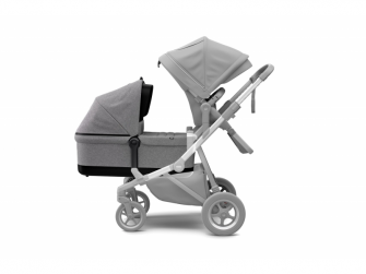 Sleek Bassinet Grey Melange 4