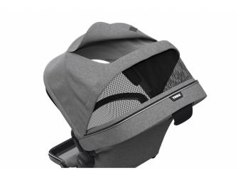 Sleek Sibling Seat Grey Mel on Black 4