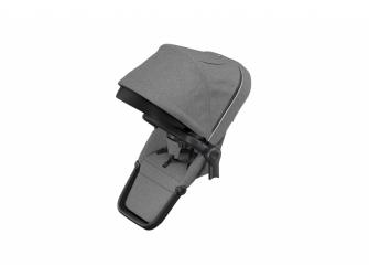 Sleek Sibling Seat Grey Mel on Black