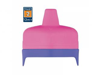 Tvrdé pítko pro kojeneckou termosku a láhev -růžová