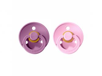 Dudlíky COLOUR Lavender/Baby Pink - velikost 1, přír. kaučuk 2ks