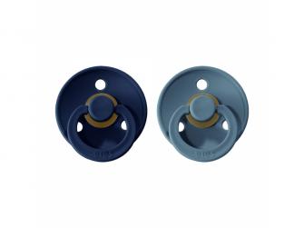 Dudlíky COLOUR Deep Space/Petrol - velikost 1, přír. kaučuk 2ks