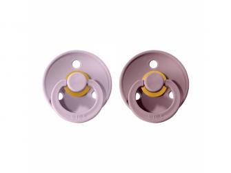Dudlíky COLOUR Dusky Lilac/Heather - velikost 1, přír. kaučuk 2ks