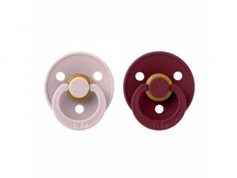 Dudlíky COLOUR Pink Plum/Elderberry, velikost 1, přír.kaučuk 2ks