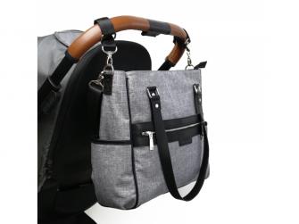 Přebalovací taška na kočárek LILY, grey melange 2