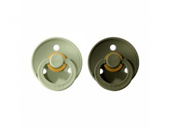Dudlíky COLOUR Sage/Hunter Green - velikost 2, přír. kaučuk 2ks
