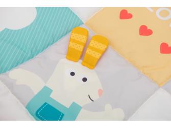 Hrací deka I Love pastelové barvy 2