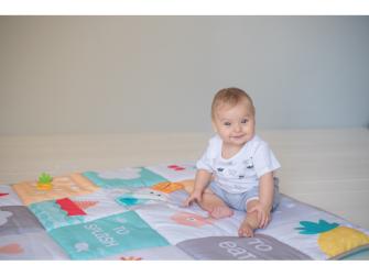 Hrací deka I Love pastelové barvy 8