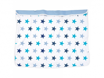 Deka Blanket Blue Stars / Baby Blue