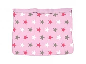 Deka Blanket Baby Pink / Pink Stars