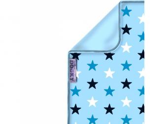Deka Blanket Baby Blue / Blue Stars 2
