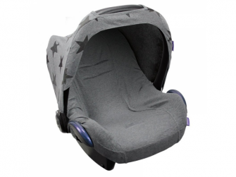 Seat Cover 0+ UNI DARK GREY MELANGE 2