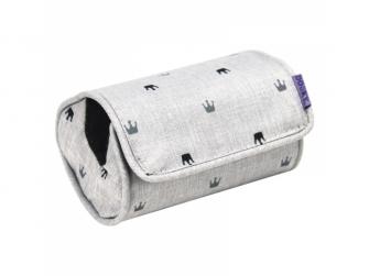 Arm Cushion Light Grey Crowns