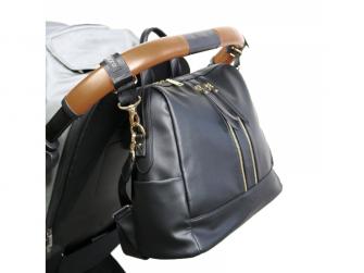 Přebalovací batoh a taška na kočárek 2v1 MINI, black 2