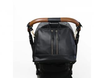 Přebalovací batoh a taška na kočárek 2v1 MINI, black 3