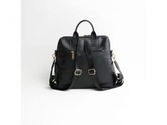 Přebalovací batoh a taška na kočárek 2v1 MINI, black 4