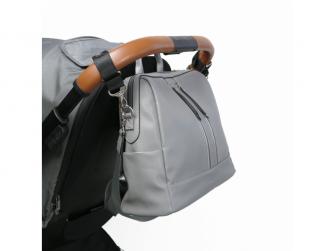 Přebalovací batoh a taška na kočárek 2v1 MINI, dark grey 3