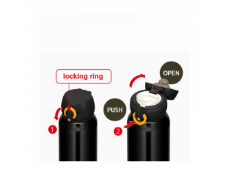 Mobilní termohrnek - černožlutá 2