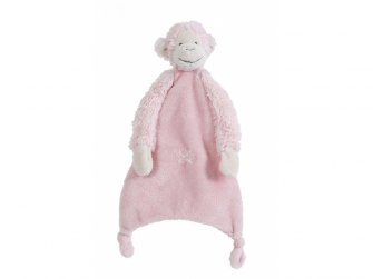Růžová Opička Mickey Přítulka vel.28 cm