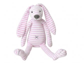 Růžový pruhovaný králíček Reece no. 1 vel.30 cm