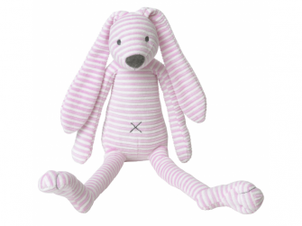 Růžový pruhovaný králíček Reece no. 2 vel.40 cm