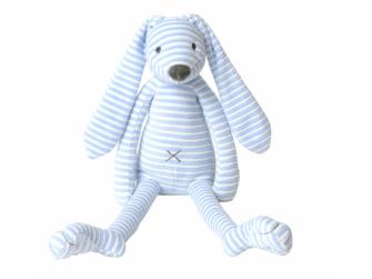 Modrý pruhovaný králíček Reece no. 1 vel.30 cm