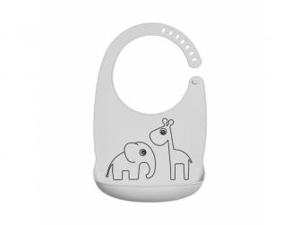 Silikonový bryndáček Deer friends - šedý