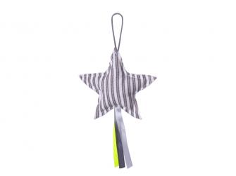 Závěsná hvězda šedé proužky
