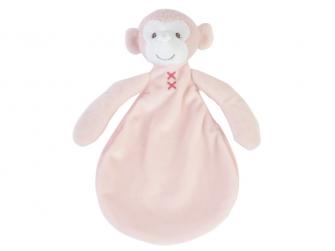 Růžová opička Marly přítulka