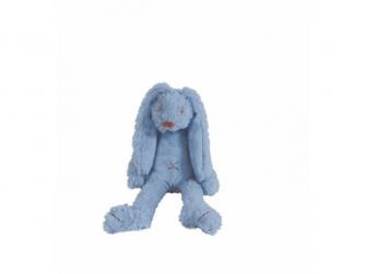 Sytě modrý králíček Richie 28 cm
