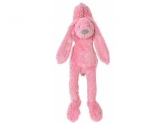 Malinový králíček Richie hudební vel.34 cm