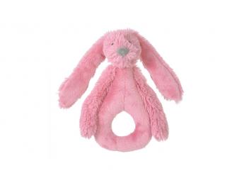 Malinový králíček Richie chrastítko 18 cm