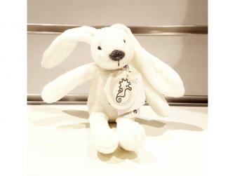 Králíček mini Richie, bílý 19 cm