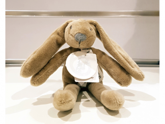 Králíček mini Richie, hnědý 19 cm