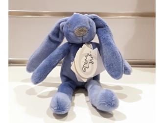 Králíček mini Richie, modrý 19 cm