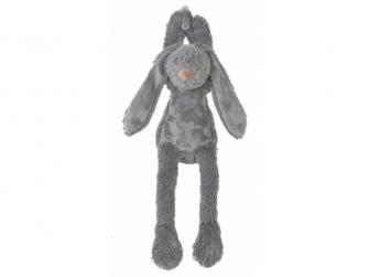 Šedý králíček Richie hudební vel.34 cm