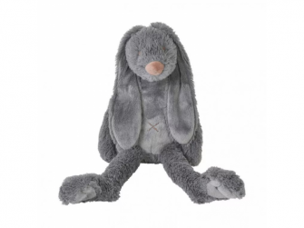 Big Deep Grey Rabbit Richie, 58 cm