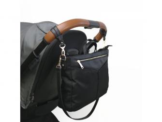 Organizér a kabelka na kočárek 2v1 ELEN, black 2