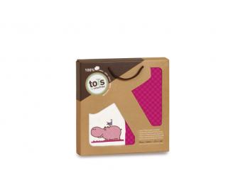 Prostěradla saténová 2 ks Hippo Pink 4