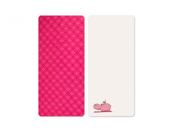 Prostěradla saténová 2 ks Hippo Pink