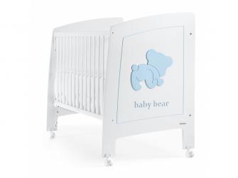 BABY BEAR POSTÝLKA 120X60 cm, white-blue